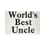 World's Best Uncle! Black Rectangle Magnet