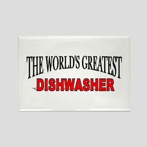 """The World's Greatest Dishwasher"" Rectangle Magnet"