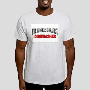 """The World's Greatest Dishwasher"" Ash Grey T-Shirt"