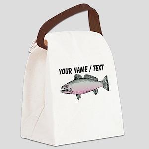 Custom Trout Canvas Lunch Bag