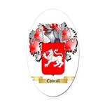 Chivrall Oval Car Magnet