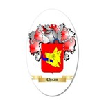 Chisam 20x12 Oval Wall Decal