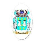 Chippendale Oval Car Magnet