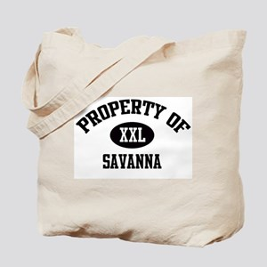 Property of Savanna Tote Bag