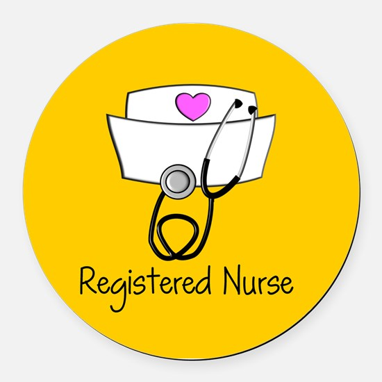 Nurse Round Car Magnet