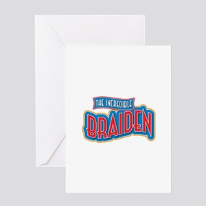 The Incredible Braiden Greeting Card