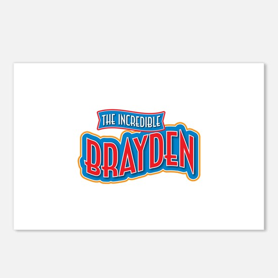 The Incredible Brayden Postcards (Package of 8)