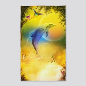 Colorful Dolphin 3'x5' Area Rug