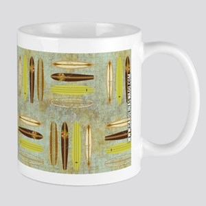 Vintage Beach Surf Boards Mug