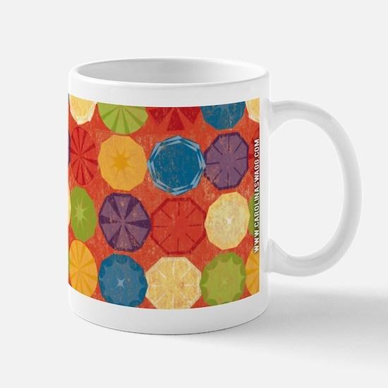 Colorful Beach Umbrellas Summer Orange Mug