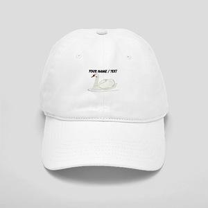 Custom White Swan Baseball Cap