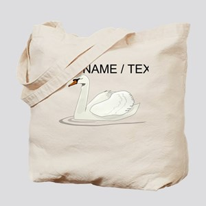 Custom White Swan Tote Bag