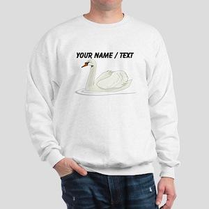 Custom White Swan Sweatshirt