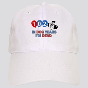 Funny 102 year old designs Cap