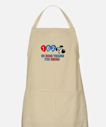 Funny 102 year old designs Apron