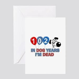 Funny 102 year old designs Greeting Card