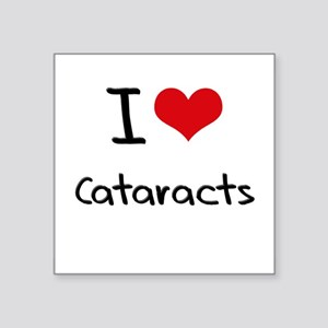I love Cataracts Sticker