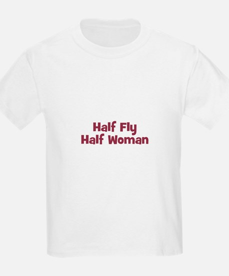 Half FLY Half Woman Kids T-Shirt