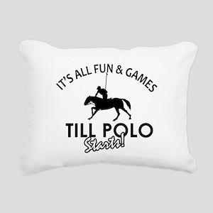 Polo designs Rectangular Canvas Pillow
