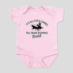 Team Roping designs Infant Bodysuit