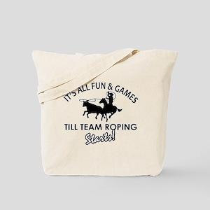 Team Roping designs Tote Bag