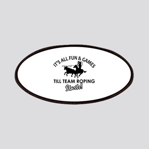Team Roping designs Patches