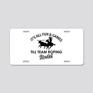 Team Roping designs Aluminum License Plate