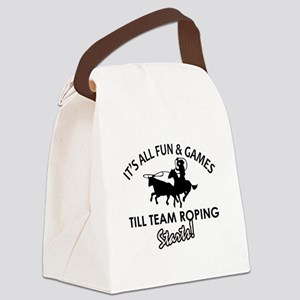 Team Roping designs Canvas Lunch Bag