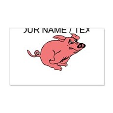 Custom Running Pig Wall Decal