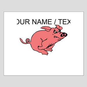 Custom Running Pig Posters