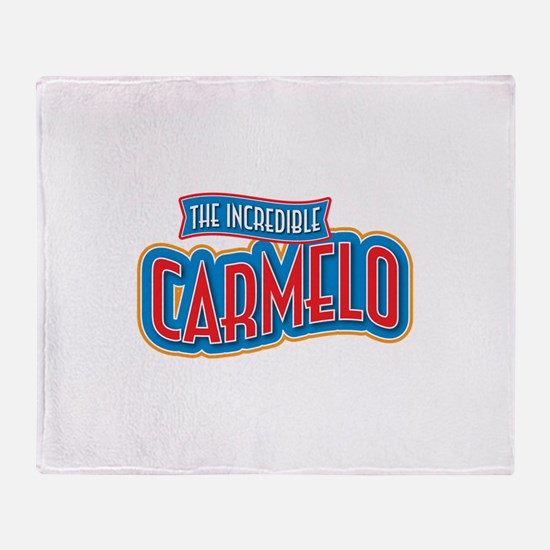 The Incredible Carmelo Throw Blanket