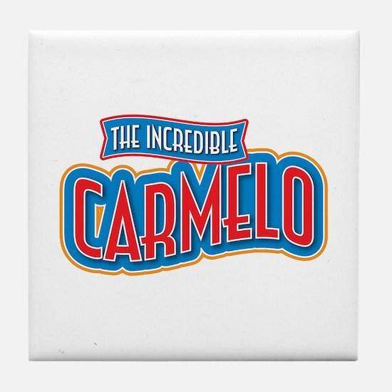 The Incredible Carmelo Tile Coaster