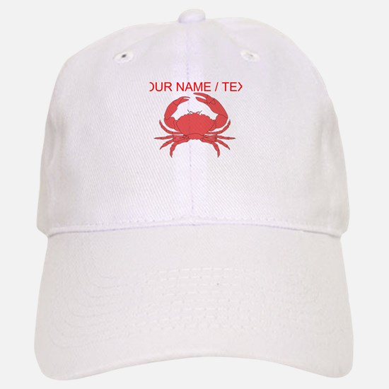 Custom Red Crab Baseball Baseball Baseball Cap