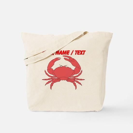 Custom Red Crab Tote Bag