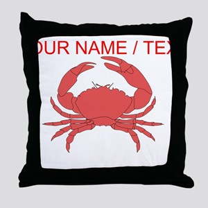 Custom Red Crab Throw Pillow