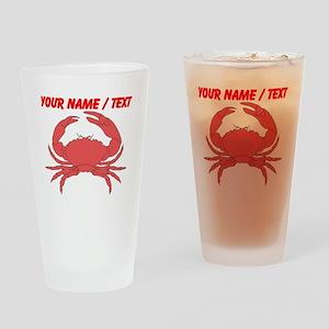 Custom Red Crab Drinking Glass