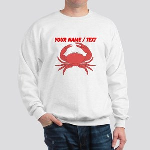 Custom Red Crab Sweatshirt