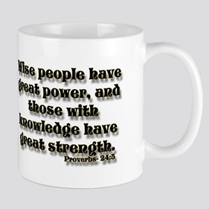 Proverbs 24:5 black gold Mug