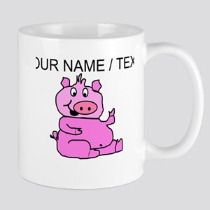 Custom Funny Pink Pig Mug