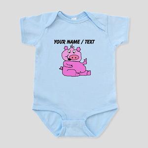 Custom Funny Pink Pig Body Suit