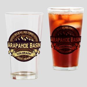 Arapahoe Basin Sepia Drinking Glass