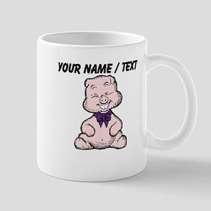 Custom Funny Pig Cartoon Mug