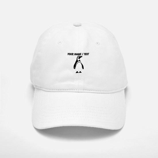 Custom Black and White Penguin Baseball Baseball Baseball Cap