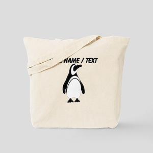 Custom Black and White Penguin Tote Bag