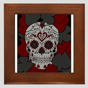 Playing Card Suit Sugar Skull Framed Tile
