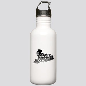 Old Style Train Water Bottle