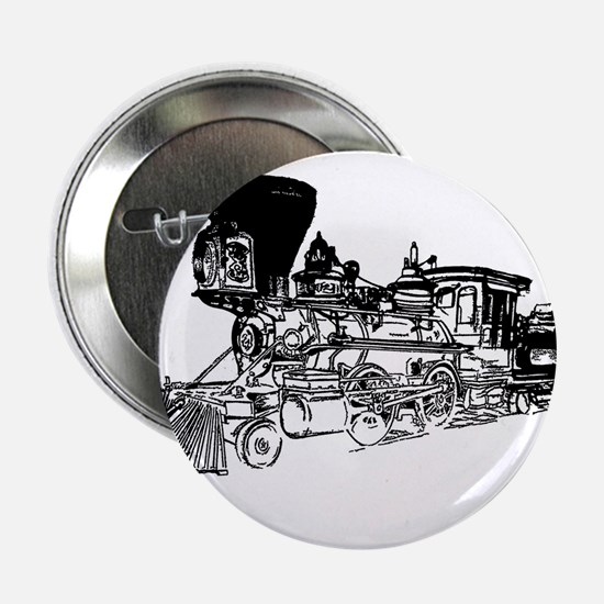 "Old Style Train 2.25"" Button"