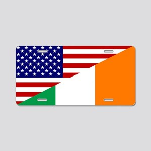 Irish American Flag Aluminum License Plate