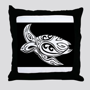 Tribal Turtle Throw Pillow