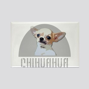 Chihuahua dog Rectangle Magnet